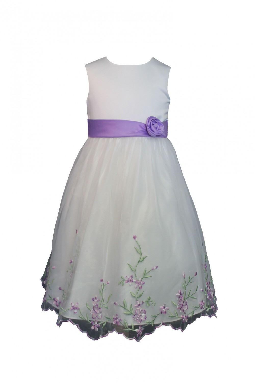 Blumenkind Mädchen Kleid festlich Lila Blümchen