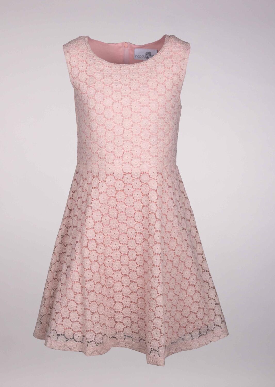 Kinder Kleid festlich Spitze rosa
