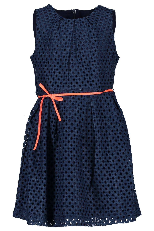 NONO Kinder Mädchen Kleid festlich Malua blau