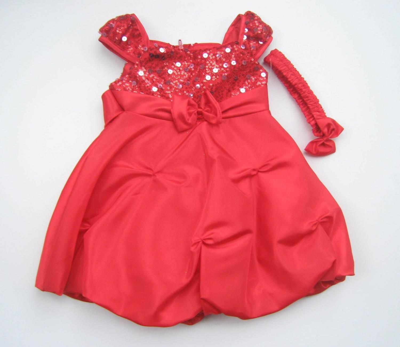 neueste Kollektion Finden Sie den niedrigsten Preis Neuankömmlinge Babykleid festlich rot