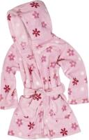 Kinder Bademantel Fleece Blumen
